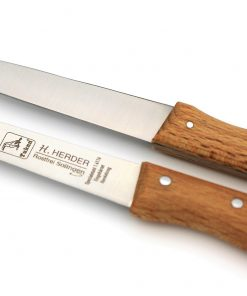 2 Küchenmesser mit Buche-Holzgriff *Rostfrei*