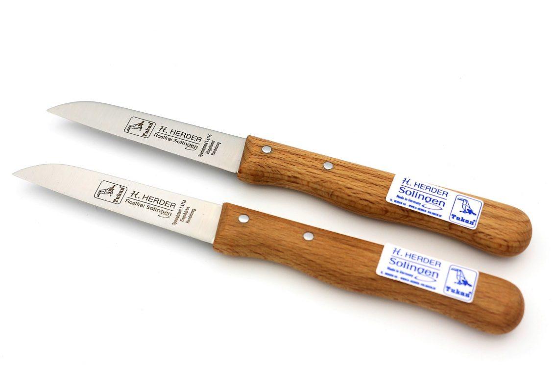 2 Küchenmesser mit Buche-Holzgriff • Ihr Früchte & Lebensmittel ...