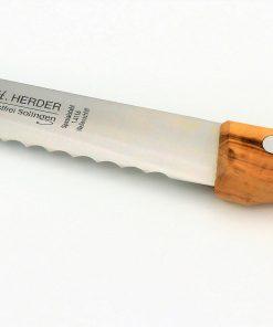 Solinger Brotmesser Olive & Wellenschliff